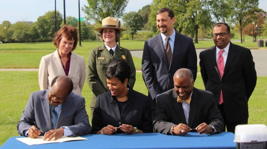 County Executive joins in signing of the Anacostia River Accord