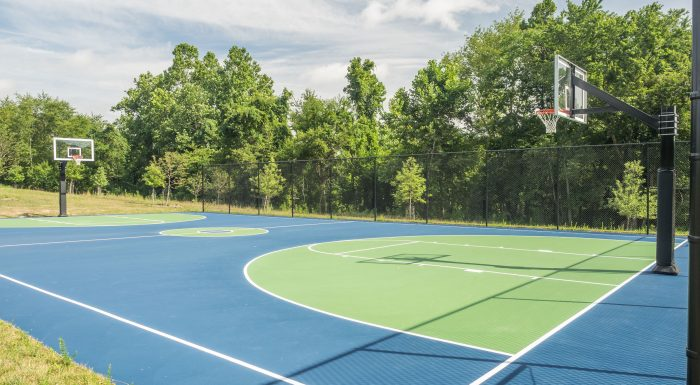 Greenbriar Local Park basketball court