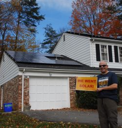 Montgomery County Solar Co-op Member from the 1st round