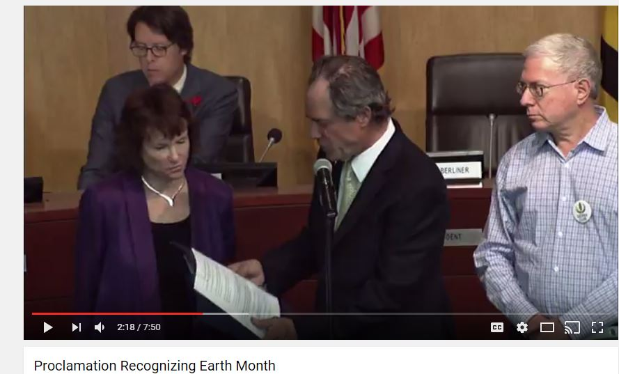 Montgomery County officially declares April as Earth Month!