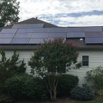 Solar panels on Montgomery County home