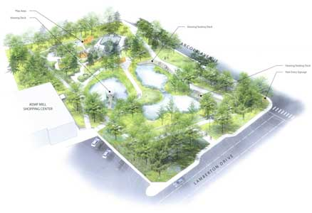 Design drawing of the Kemp Mill Urban Park renovation