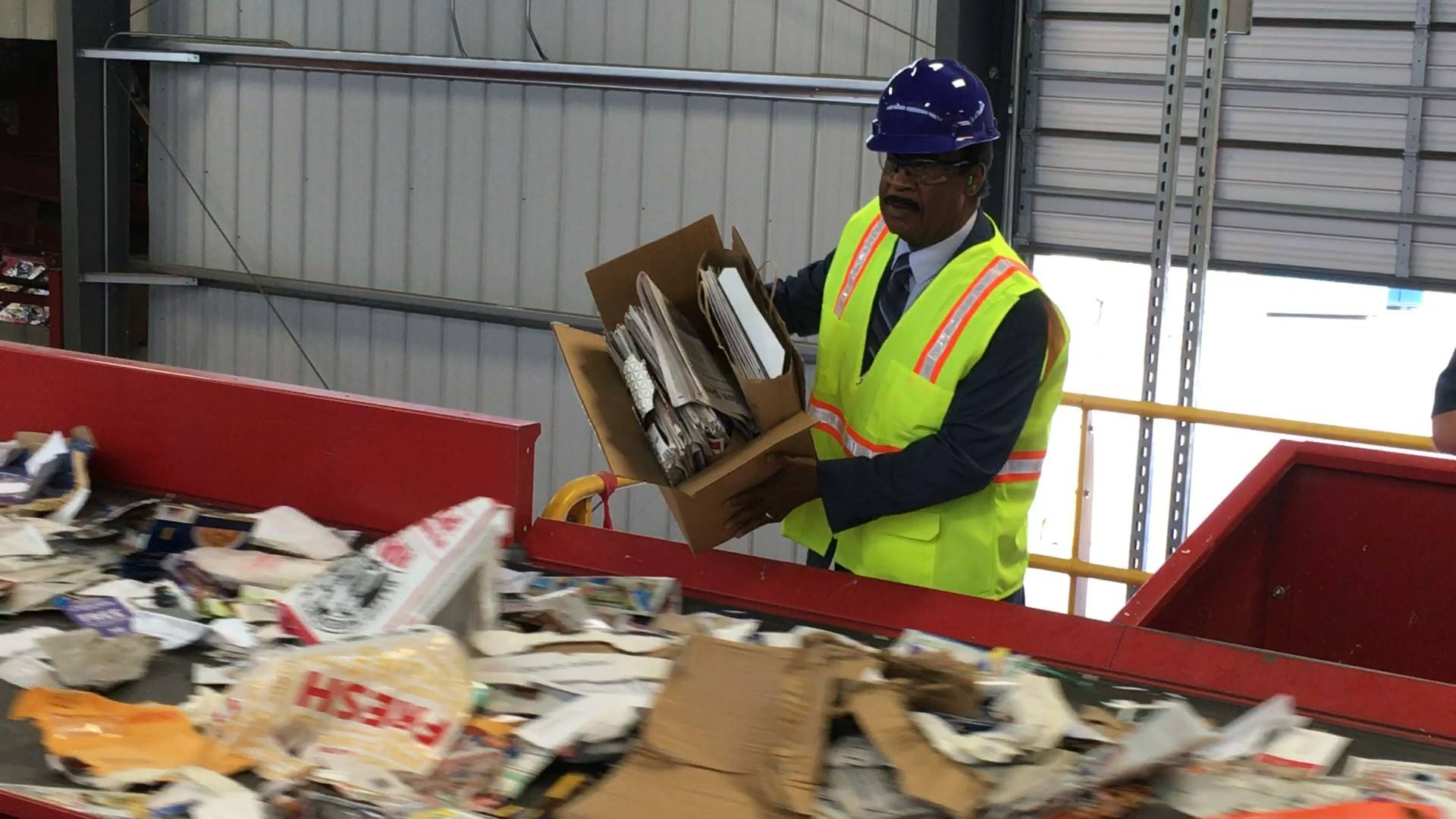 A step closer to 70%: the County opened a new mixed paper processing facility at the Recycling Center