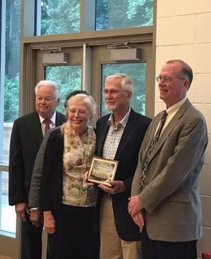 Jim Anderson, second from right, at the award ceremony on June 5. (Montgomery Parks photo)