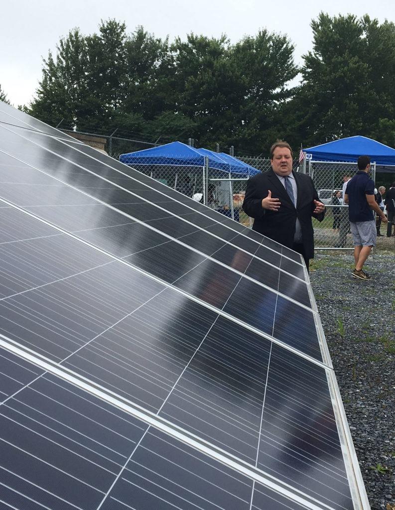 Solar panel at the Correctional Facility