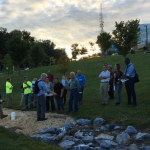 Its a gorgeous night for our first GreenInfrastructure class! Throughhellip