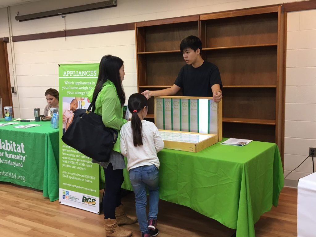 Henry volunteering at an Energy Exploration event.