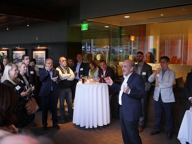 Tom Raffa inspiring other business leaders to embrace corporate citizenship at a recent Mix and Mingle sponsored by the firm.