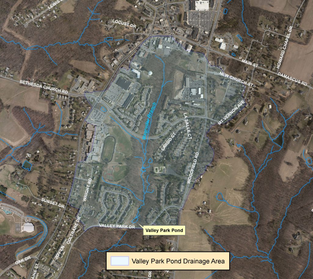 Valley Park Pond map