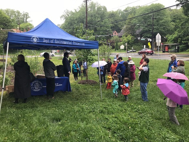 Residents learning how stormwater happens during the festival