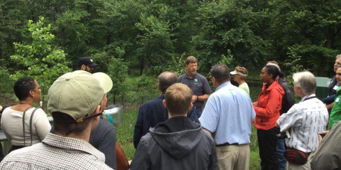 Walking tour of bioretention