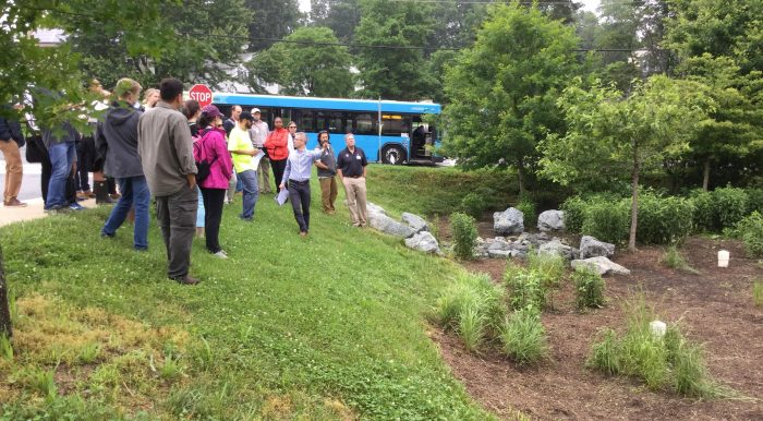 DEP engineer Phil Jones explains green infrastructure