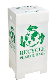 Bin to recycle plastic bags