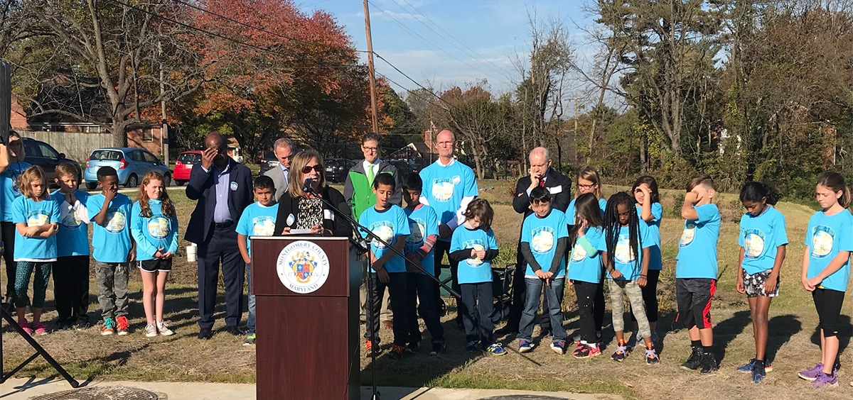 Olney Elementary School Rain Garden Dedication