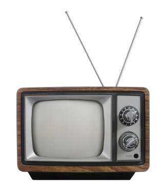 TV with rabbit ears