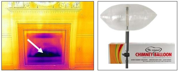 Use a thermal camera on your fireplace