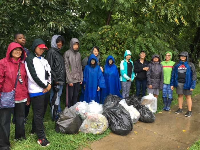 Lewy Family at a Rainey Stream Cleanup