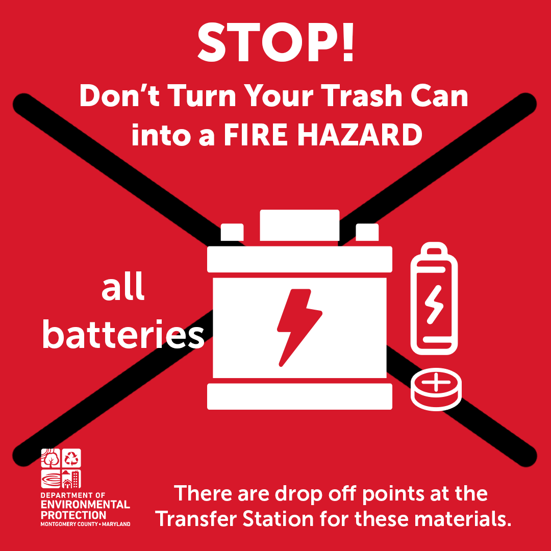 Batteries Can Cause Trash Fires
